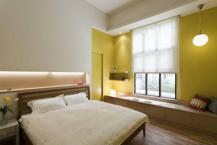 κιτρινη κρεβατοκαμαρα