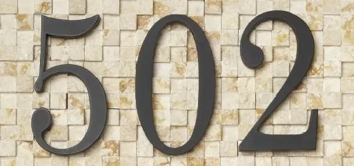 Modern House Numbers Ideas