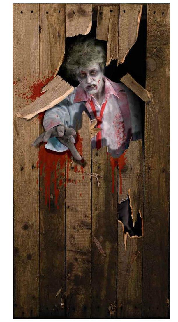 Fantastic Zombie Sticker Featuring Door Decorations