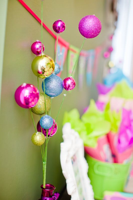 Bright Color Christmas Decorations