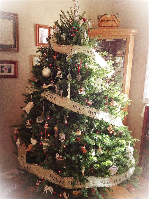 Christmas Tree Decorating With Burlap