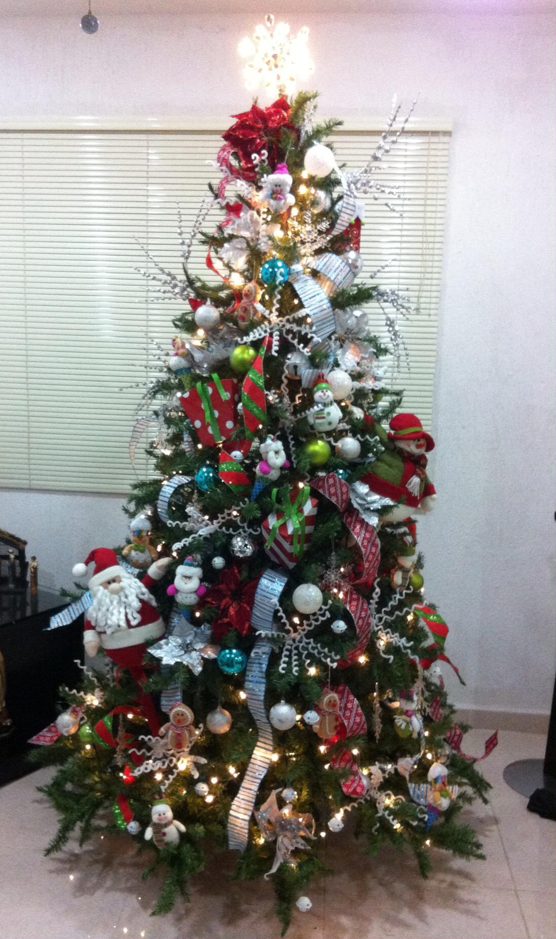 Colorful Christmas Tree Decor