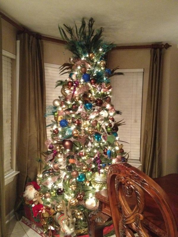 Peacock Christmas Tree Idea