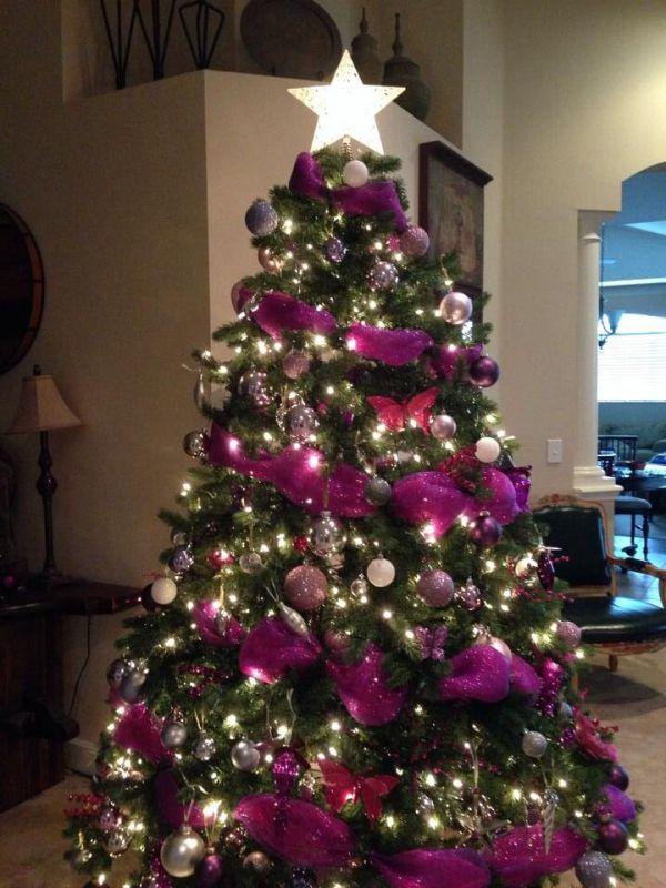 Pink Purple Christmas Tree
