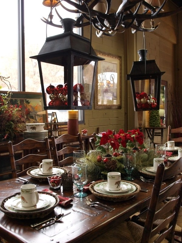 Rustic Christmas Table Decorations