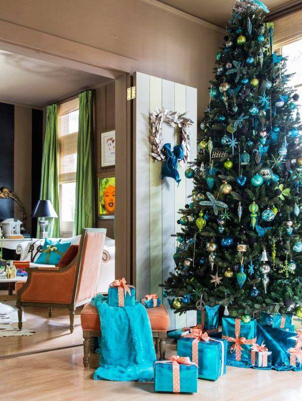 33 Turquoise Christmas Tree Decorations Ideas Decoration