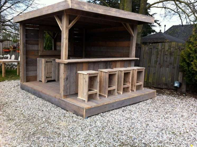 DIY OUTDOOR BAR IDEAS 13