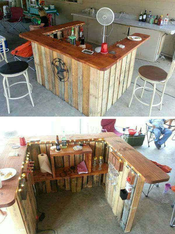 DIY OUTDOOR BAR IDEAS 26