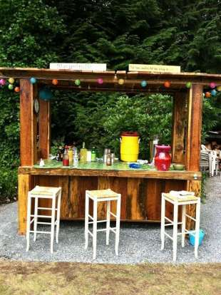 DIY OUTDOOR BAR IDEAS 36