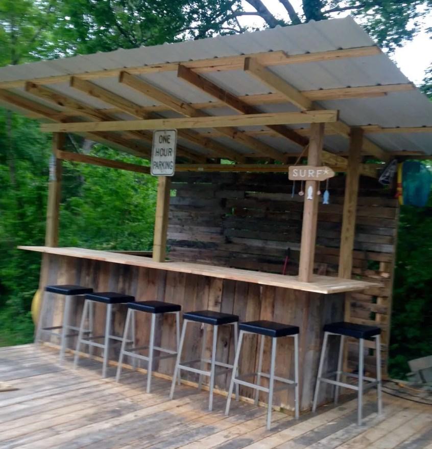80 Incredible DIY Outdoor Bar Ideas - decoratoo on Patio With Bar Ideas id=74401
