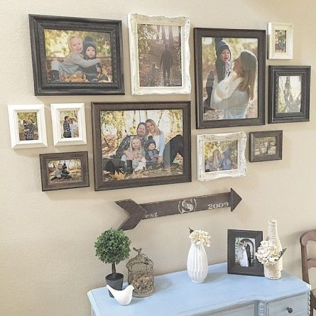 50 Stunning Photo Wall Gallery Ideas 14
