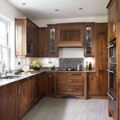 Modern Walnut Kitchen Cabinets Design Ideas 14