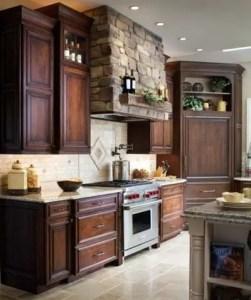 Modern Walnut Kitchen Cabinets Design Ideas 17