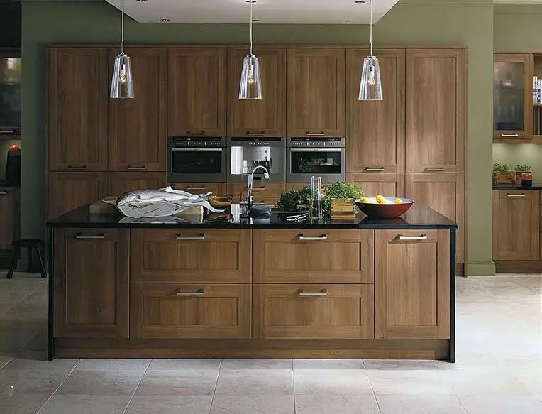Modern Walnut Kitchen Cabinets Design Ideas 18