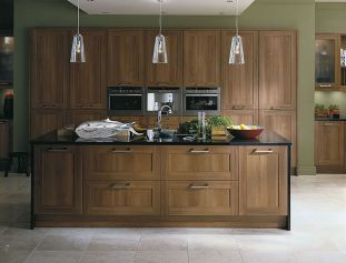 Modern Walnut Kitchen Cabinets Design Ideas 18