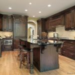 Modern Walnut Kitchen Cabinets Design Ideas 23