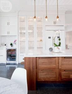 Modern Walnut Kitchen Cabinets Design Ideas 29