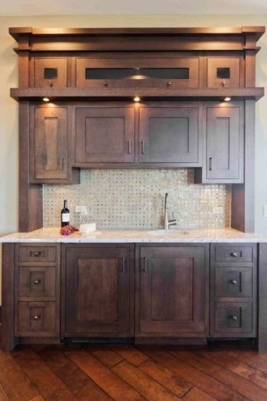 Modern Walnut Kitchen Cabinets Design Ideas 30