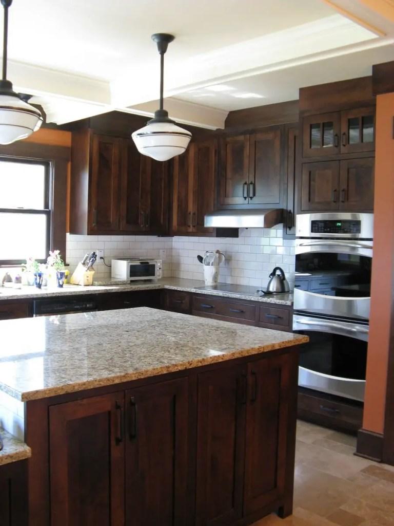 Modern Walnut Kitchen Cabinets Design Ideas 38