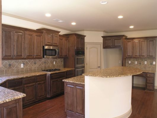 Modern Walnut Kitchen Cabinets Design Ideas 41