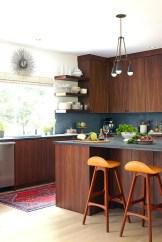 Modern Walnut Kitchen Cabinets Design Ideas 44