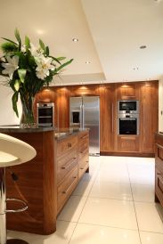 Modern Walnut Kitchen Cabinets Design Ideas 52