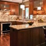 Modern Walnut Kitchen Cabinets Design Ideas 53