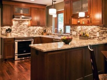 Modern Walnut Kitchen Cabinets Design Ideas 53