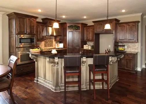 modern walnut kitchen cabinets design ideas 58 decoratoo on kitchen design remodeling ideas better homes gardens id=59737