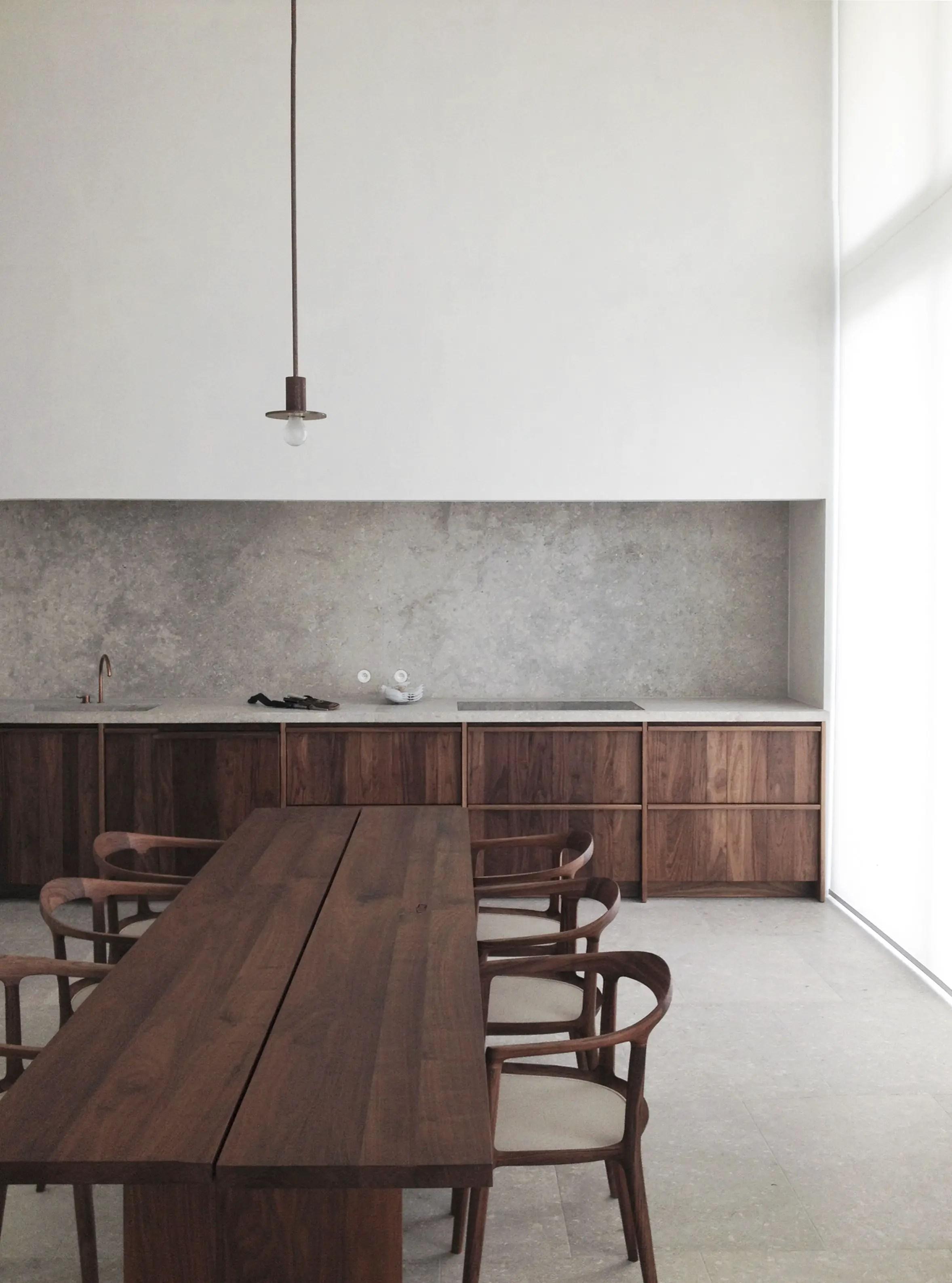 Modern Walnut Kitchen Cabinets Design Ideas 59