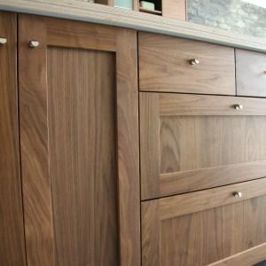 Modern Walnut Kitchen Cabinets Design Ideas 7