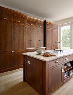 Modern Walnut Kitchen Cabinets Design Ideas 8