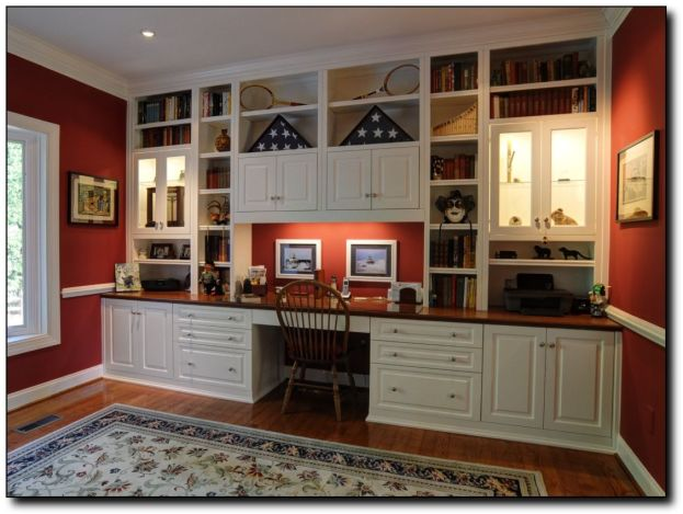 Office Built In Cabinets Ideas 27
