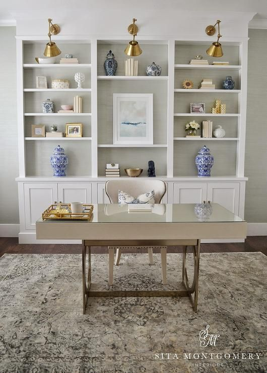 Office Built In Cabinets Ideas 33