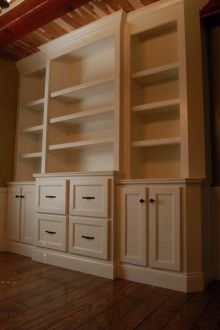 Office Built In Cabinets Ideas 56