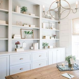 Office Built In Cabinets Ideas 59