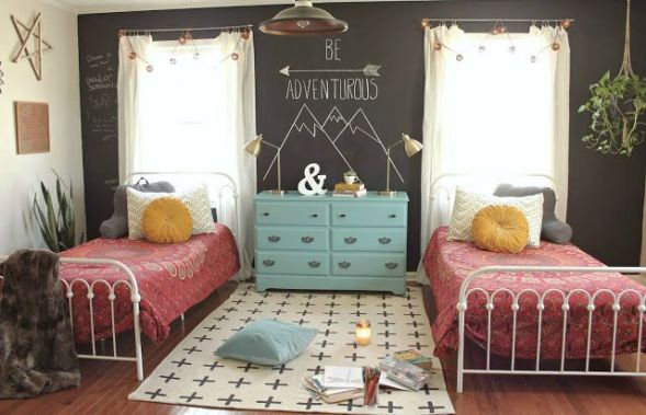 Chalk Wall Bedroom Ideas 107