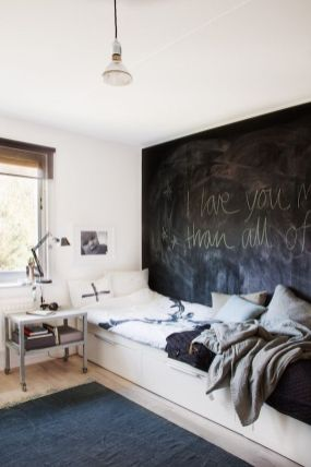 Chalk Wall Bedroom Ideas 37