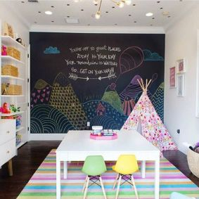 Chalk Wall Bedroom Ideas 44