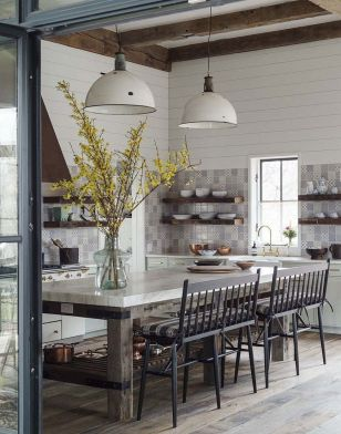 European Farmhouse Kitchen Decor Ideas 52