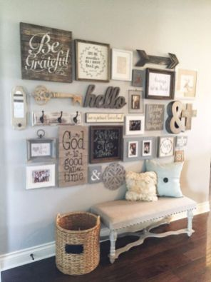 Farmhouse Gallery Wall Ideas 27