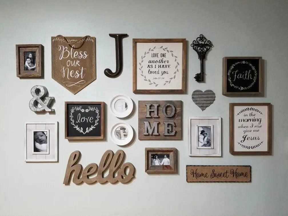 Farmhouse Gallery Wall Ideas 52