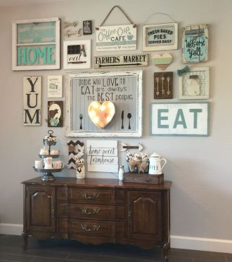Farmhouse Gallery Wall Ideas 61