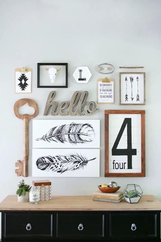 Farmhouse Gallery Wall Ideas 90