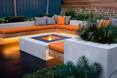 Fire Pit Seating Ideas 122