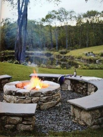 Fire Pit Seating Ideas 124