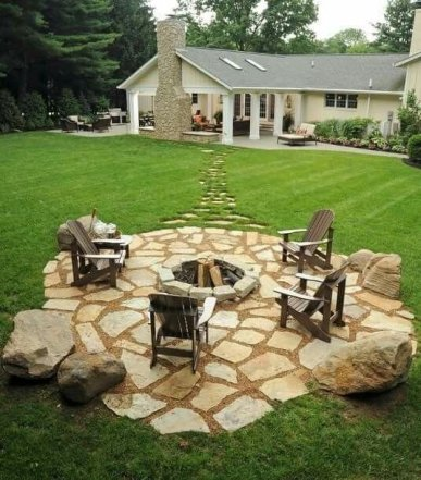 Fire Pit Seating Ideas 125