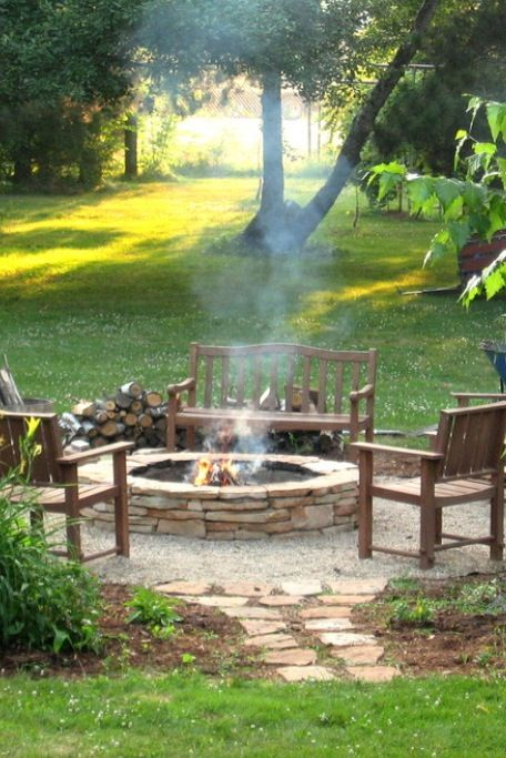 Fire Pit Seating Ideas 143