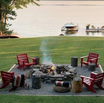 Fire Pit Seating Ideas 154