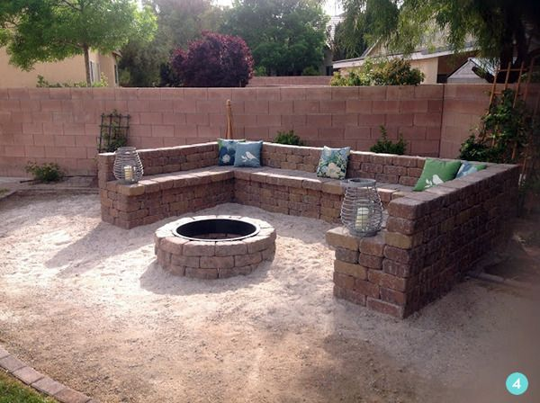 Fire Pit Seating Ideas 163